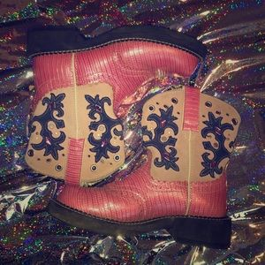 Pink Ariat boots